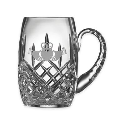 Belleek Galway Crystal Claddagh Friendship Tankard