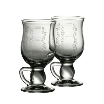 Belleek Galway Crystal Irish Coffee Glasses (Set of 2)