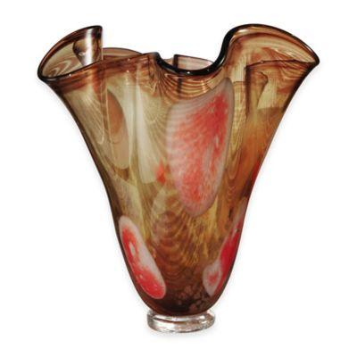 Dale Tiffany™ 13.5-Inch Paprika Ruffle Vase