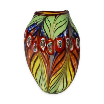 Dale Tiffany™ 12-Inch Peacock Feather Vase