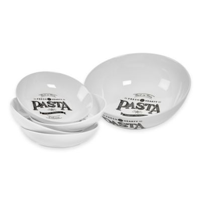 "Tabletops Unlimited® Gallery ""Best in Town"" 5-Piece Pasta Set"