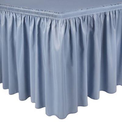 Shirred 21-Foot Polyester Table Skirt in Purple