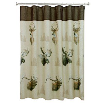Bacova Majestic Portraits Shower Curtain in Beige/Brown