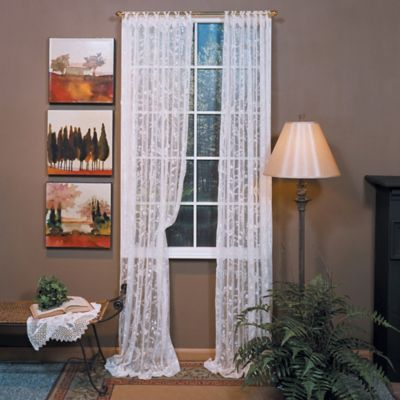 Coventry 63-Inch Ring Top Window Curtain Panel in Ivory