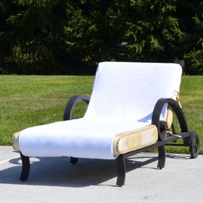 Grand Chaise Lounge Cover in White