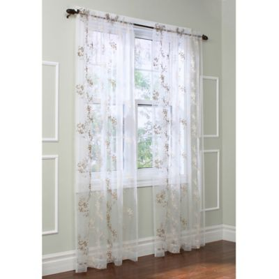 Commonwealth Home Fashions Josephina Sheer 84-Inch Rod Pocket Window Curtain Panel in Ivory
