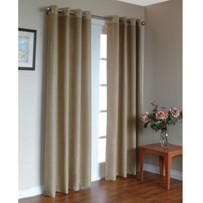Commonwealth Home Fashions Harrison 84-Inch Grommet Top Window Curtain Panel in Almond
