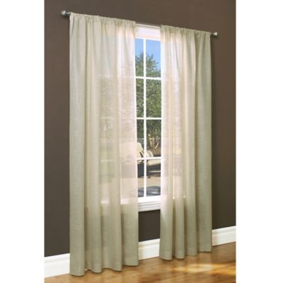 Commonwealth Home Fashions Weathervane 63-Inch Rod Pocket Window Curtain Panel in Linen