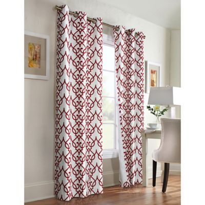 Commonwealth Home Fashions Allegra 84-Inch Grommet Top Window Curtain Panel Pair in Khaki
