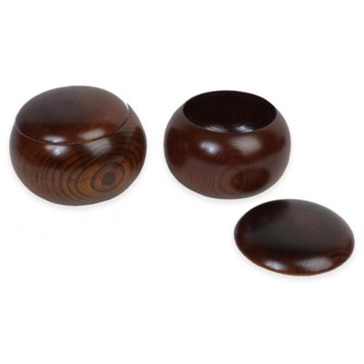 Burl Wood Go Bowls (Set of 2)