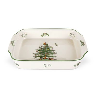 "Christmas Tree 15 1/2"" x 11 1/2"" Lasagna Dish"