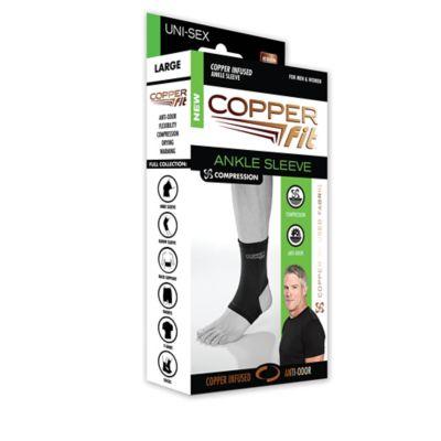 CopperFit™ Copper Infused Medium Ankle Sleeve in Black