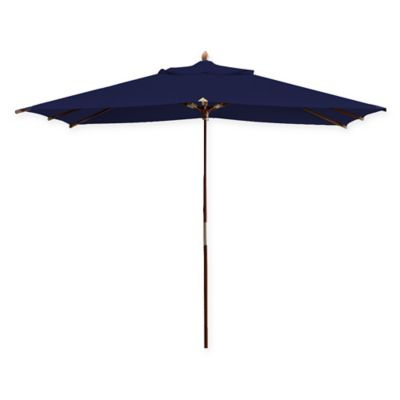 Deluxe 10-Foot Rectangle Eucalyptus Wood Patio Umbrella in Fern