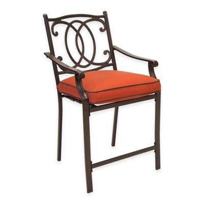 Steel Cast Back High Balcony Chairs (Set of 2)