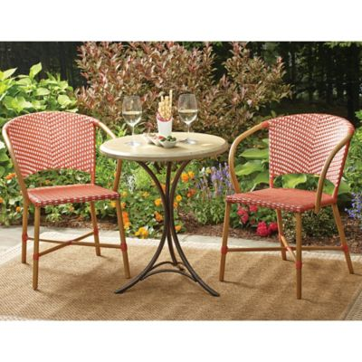 Parisian Wicker Arm Chairs (Set of 2)
