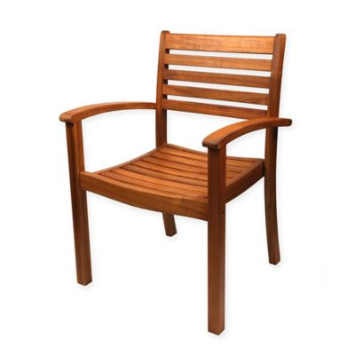 Westerly Acacia Wood Stacking Chairs (Set of 2)