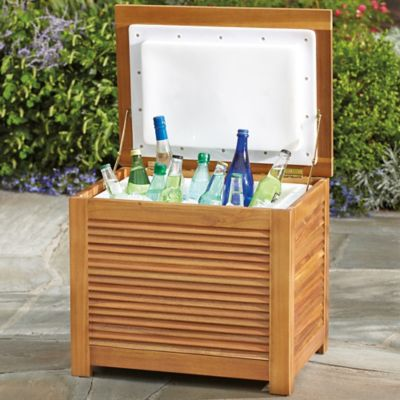 Westerly Acacia Wood 36 Qt. Cooler Box
