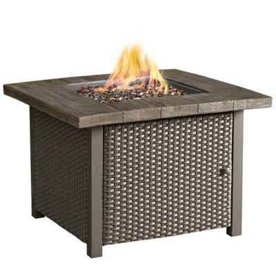 32-Inch Square Gas Firepit Table