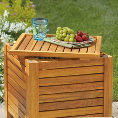 Westerly Acacia Wood Storage Cube