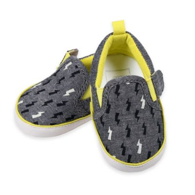 Rosie Pope® Bolt of Sunshine Size 3-6M Soft Sole Sneaker in Grey
