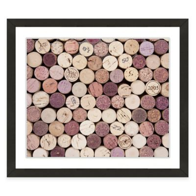 Framed Giclée Wine Corks I Print Wall Art