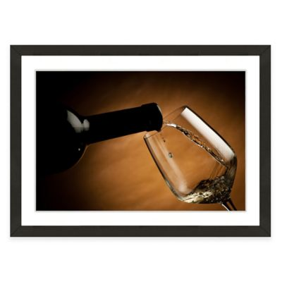 Framed Giclée Wine and Glass Print I Wall Art