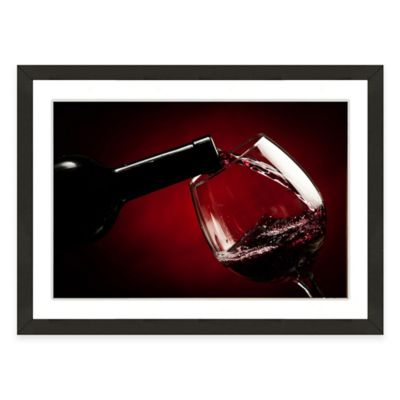 Framed Giclée Wine and Glass Print II Wall Art