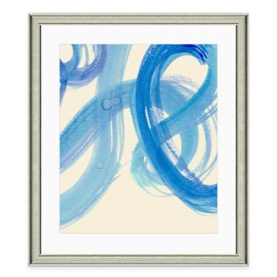 Blue Brushstroke I Framed Art Print