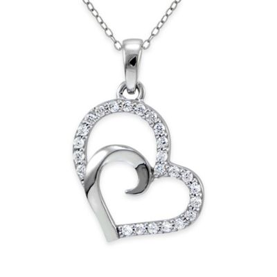 Silver Clear Heart Pendant