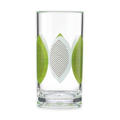Dansk® The Burbs Acrylic Highball Glass in Clear/Green/Grey