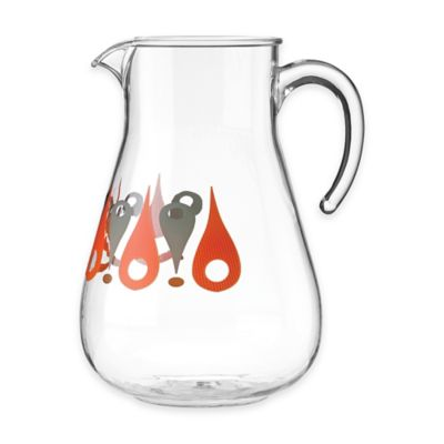 Dansk® The Burbs Acrylic Pitcher in Clear/Orange/Grey