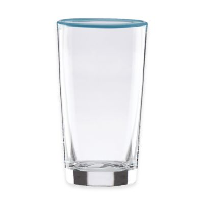 Dansk® The Burbs Blue Rim Highball Glass in Clear/Blue (Set of 4)