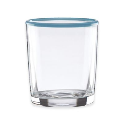 Dansk® The Burbs Blue Rim Double Old Fashioned Glass in Clear/Blue (Set of 4)