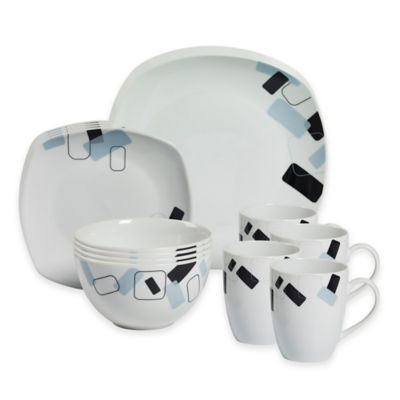 Tabletops Gallery® Dean 16-Piece Square Dinnerware Set