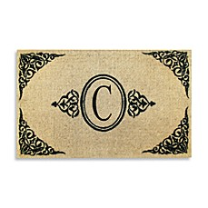 Royal Leaves 22-Inch X 36-Inch Monogrammed Doormat - C