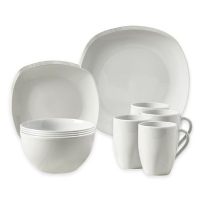 Tabletops Unlimited® Logan 16-Piece Dinnerware Set in White