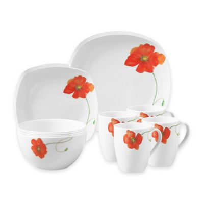 Tabletops Gallery® Palermo 16-Piece Square Dinnerware Set