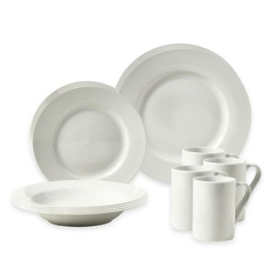 Tabletops Gallery® Parker 16-Piece Rim Dinnerware Set