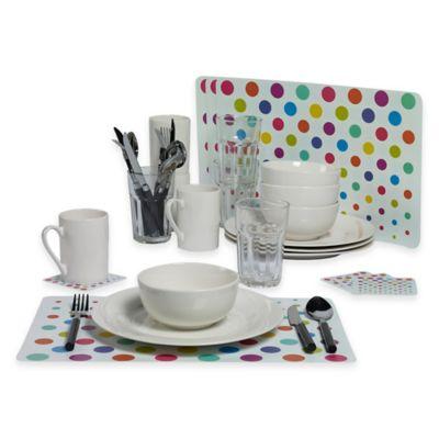 Tabletops Gallery® Dots 36-Piece Dinnerware Set