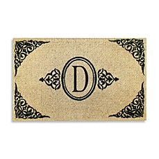Royal Leaves 22-Inch X 36-Inch Monogrammed Doormat - D