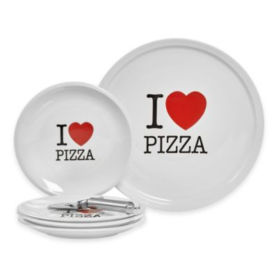 "Tabletops Gallery® ""I Love Pizza"" 6-Piece Pizza Set"