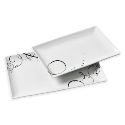 Tabletops Gallery® Pescara 2-Piece Rectangular Platter Set