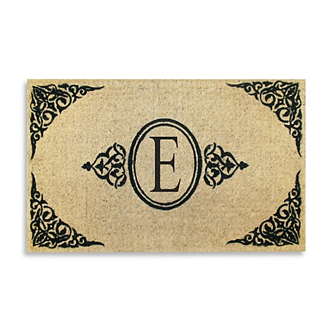 "Royal Leaves 22"" X 36"" Monogrammed Doormat - E"