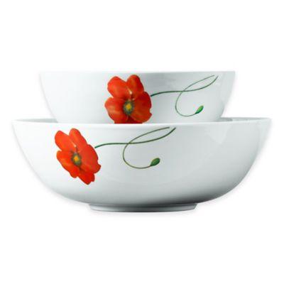 Tabletops Gallery® Poppy 2-Piece Serving Bowl Set