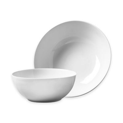 Tabletops Gallery® Whiteware 2-Piece Serving Bowl Set