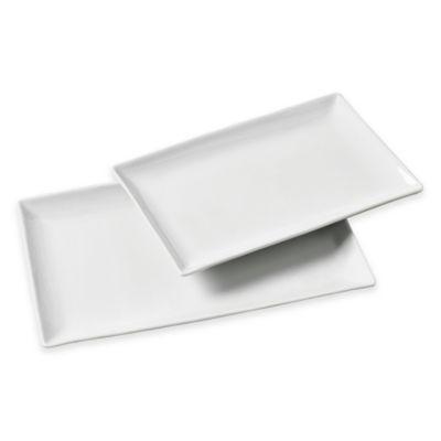 Tabletops Gallery® Whiteware 2-Piece Rectangular Platter Set