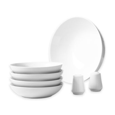Tabletops Gallery® Whiteware 7-Piece Pasta Set