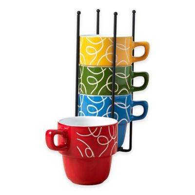 Tabletops Gallery® Esto 5-Piece Stacking Mug Set