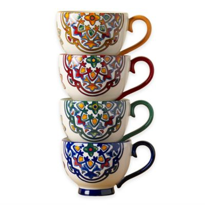 Tabletops Unlimited® Gallery Kenitra Footed Mugs (Set of 4)