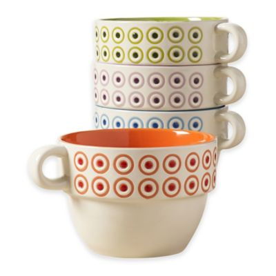 Tabletops Gallery® Olivia Stacking Mugs (Set of 4)